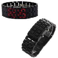 LED Digital Samurai Lava Wrist Watch Plastic Sports Style Mens Womens Unisex FT