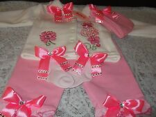 BABY GIRLS ROMANY/BLING WARM SOFT OUTFIT SET 6-9 MONTHS
