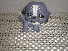 LITTLEST PET SHOP 113 Standing Purple SAINT BERNARD Puppy Dog Green Eyes LPS