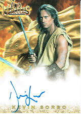 HERCULES THE COMPLETE JOURNEYS AUTOGRAPH CARD HXA1 OF KEVIN SORBO AS HERCULES