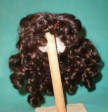 """doll wig dark brown 11"""" to 11.5"""" middle parting with small french c"""