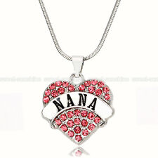 New Style 925 Sterling Silver Chain Rhinestone Crystal Heart Pendant Necklace