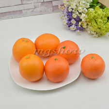 6pcs Artificial Oranges Large Home Decorative Props Plastic Fruit Imitation Fake