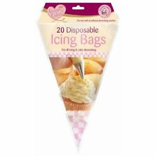 Queen Of Cake 20 Pack Disposable Piping Pastry Fondant Cake Decorating Icing Bag