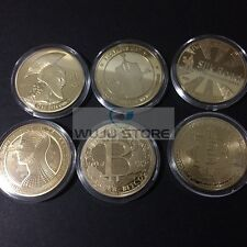 Bitcoin 1oz  Collectible Coin BTC Gold Plated 6 coins set