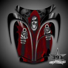 Arctic Cat ZR 600, 500, 800 Mountain Cat 00-06 Graphics Decal Reaper Hood Red
