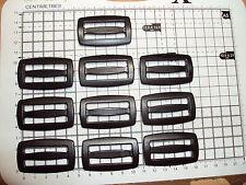 """10 x BLACK PLASTIC DELRIN 3 BAR SLIDES BUCKLES FOR WEBBING - 40mm """"D"""""""