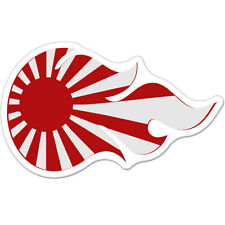 "Japanese Fire Rising Sun Japan Styling Flames car bumper sticker decal 6"" x 4"""