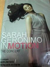 SARAH GERONIMO IN MOTION CONCERT DVD ALL REGIONS Philippines