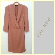 The Row $1,150 mauve pink faux-wrap day-to-evening dress~2/4