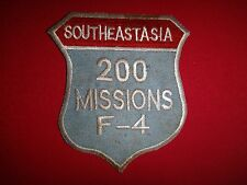 "Vietnam War Patch USAF F-4 Bombing Team ""SOUTHEAST ASIA 200 MISSIONS"""