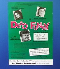 THEATRE FLYER DEAD FUNNY SIGNED BY MICHAEL TUDOR JAMES