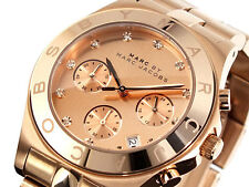 NEW MARC JACOBS BLADE ROSE GOLD CHRONOGRAPH STAINLESS STEEL LADIES WATCH MBM3102