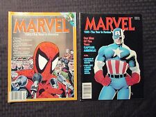 1989 VF- & 1990 FVF MARVEL Year In Review Magazine LOT of 2 Spider-Man