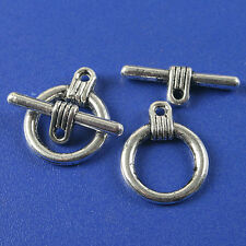8sets dark silver tone toggle clasp h3520