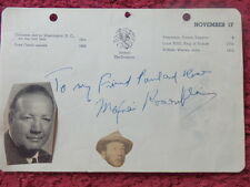 BOXER / ACTOR MAXIE ROSENBLOOM + ACTOR ROBERT TAYLOR AUTOGRAPHS
