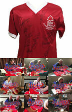 FULLY SIGNED NOTTINGHAM FOREST 1979 EUROPEAN CUP FINAL FOOTBALL SHIRT PROOF COA