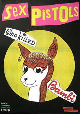 "SEX PISTOLS POSTER ""WHO KILLED BAMBI"""