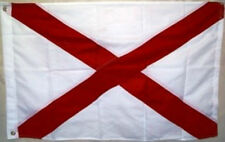 3x5 Embroidered Sewn State of Alabama Synthetic Cotton Flag 3'x5' 3 Clips
