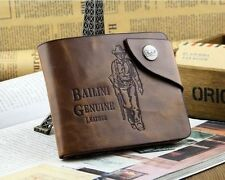 Fashion Vintage Style Bailini Hunter Men Leather Bifold Wallet