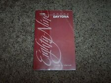 1989 Dodge Daytona Owner Owner's Operator Manual ES Turbo Shelby 2.2L 2.5L 4Cyl