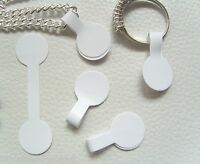 Jewellery Labels Price Tags ~ Self Adhesive Dumbell Round White ~ 5cm x 14mm