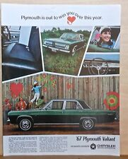 1966  magazine ad for Plymouth - 1967 Valiant, Looks All New, Feels All New