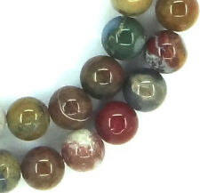"15.5"" NATURAL Mixed Colors Ocean Jasper Round ~40 Beads 10mm K2719"