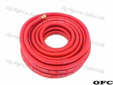25 ft OFC 4 Gauge AWG RED Power Ground Wire Sky High Car Audio GA ft
