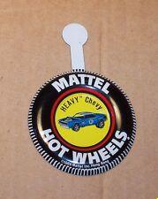 HOT WHEELS Mattel Vintage Redline HEAVY CHEVY Tin Button Badge NICE