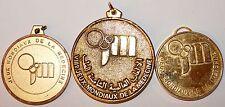 Lot 3 medailles Jeux Mondiaux de la Medecine Cannes, Casablanca, Perpignan
