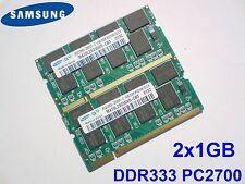 2GB 2x1GB PC2700 DDR333 CL2.5 SAMSUNG NOTEBOOK LAPTOP PORTATILE SODIMM RAM