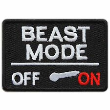 Beast Mode Switch On-Off Slogan Motorcycles Biker Funny Iron-On Patches #T001