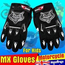 Kids MX Motorcross Gloves  Bright 5 Colors  for Boys Girls Kids Youth Peewee Win