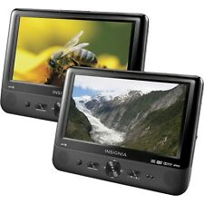 """Insignia Portable DVD Player with 9"""" TFT-LCD NS-DS9PDVD15 Dual Screen  Dual Disc"""