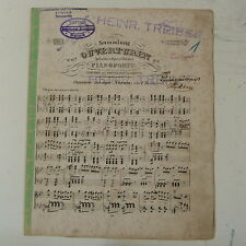 antique piano score BELLINI norma overture  , 6pages dating to 1874