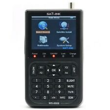 "Genuine SATLINK WS-6908 3.5"" DVB-S FTA Digital Satellite Meter Satellite Finder"