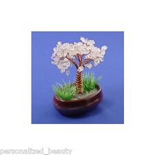 Lucky Tree *Chinese *Japanese Bonsai Style Natural Crystal Clear Quartz Gemstone