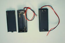 1 Enclosed Plastic Battery Box Holds 2xAA with Miniature Slide Switch and Lead