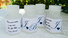 120 Personalized WEDDING COUPLE'S INITIAL BUBBLE LABELS for PARTY or FAVOR BOXES