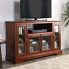 "Walker Furniture 52"" TV Console Rustic Brown Highboy Wood TV Stand W52C32RB New"