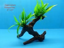 "PLASTIC PLANT RESIN BRANCH AQUARIUM TERRARIUM #1224172 6"" H x 6"" W HEAVY BASE"