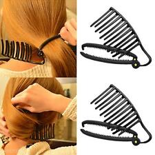 Magic Women DIY Hair Styling Updo Bun Comb Clip Set For Hair French Twist Maker