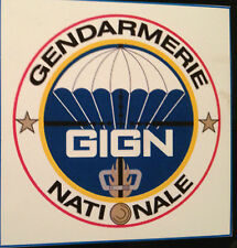 GENDARMERIE NATIONALE `GIGN` HIGH QUALITY MAGNETIC SIGN + FREE GIGN STICKER
