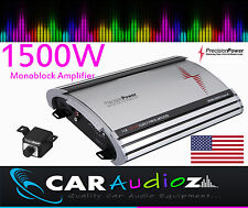 Precision Power S1500.1 Mono Monoblock car amplifier amp big power top quality