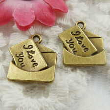 Free Ship 120 pieces bronze plated envelope charms 18x16mm #1854
