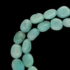 "16"" Peruvian Amazonite Oval Nugget Beads 6-7mm #71076"