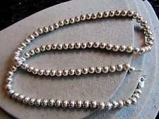 """Sterling Silver 6mm Ball Bead Chain Necklace 24"""""""