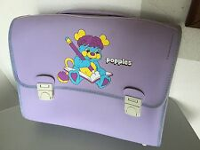1987# VINTAGE MATTEL OFFICIAL CARTELLA SCHOOL BAG POPPLES#NEW WITH TAG