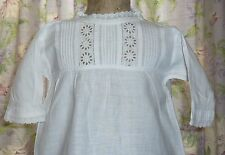 Vintage White Cotton  Baby's Nightgown~Pretty Bodice~Dress, Gown